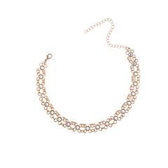 Dames Choker kettingen imitatie Diamond Geometrische vorm StrassMeetkundig Klassiek Elegant Bling bling Modieus Verstelbaar