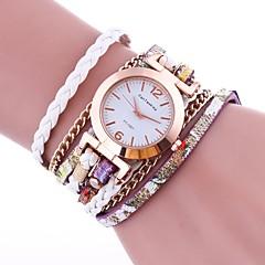 Dames Modieus horloge Armbandhorloge Chinees Kwarts PU Band Vintage Vrijetijdsschoenen Elegante horloges Zwart Wit Blauw Rood Bruin Groen