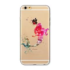 Obudowa dla iPhone 7 plus 7 pokrywka przezroczysta obudowa tylna obudowa kreskówka syrenka miękka tpu dla jabłek iphone 6s plus 6 plus 6s