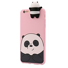 Til iPhone 8 iPhone 8 Plus Etuier Stødsikker Mønster Bagcover Etui 3D-tegneseriefigur Panda Blødt Silikone for Apple iPhone 8 Plus iPhone