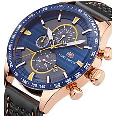 Męskie Sportowy Modny Zegarek na nadgarstek Unikalne Kreatywne Watch Na codzień Kwarcowy Kalendarz Chronograf Stoper Skóra naturalna Pasmo