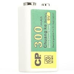 Cp ni-mh επαναφορτιζόμενη μπαταρία 300mah 9v