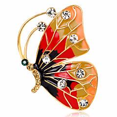 Kadın's Broşlar Yapay Elmas Basic Tasarım Moda Eski Tip Kişiselleştirilmiş lüks mücevher minimalist tarzı Klasik Zarif Kristal Simüle