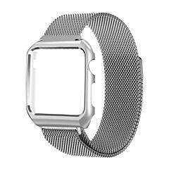 Banda milanesa para maçã relógio série 1 2 pulseira de substituição de aço inoxidável com armação de metal