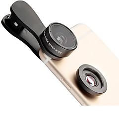 Lieqi f-515 telefon objektív 145 nagylátószögű objektív makró lencse alumínium 15x mobiltelefon lencse készlet a samsung android