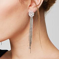 Dame Dråbeøreringe Ørering Mode Statement-smykker luksus smykker Elegant Lang Længde Galakse kostume smykker Plastik Simuleret diamant