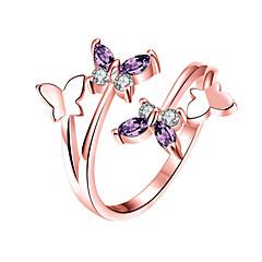 Kadın's manşet Yüzük Kübik Zirconia Moda alaşım Animal Shape Mücevher Uyumluluk Düğün Parti Günlük