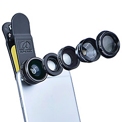 Aszune apl mobiltelefon linse cpl linse med filte 198 fisk øjne linse 2x lang brændvidde 0,63x vidvinkel linse 15x makro linse aluminium
