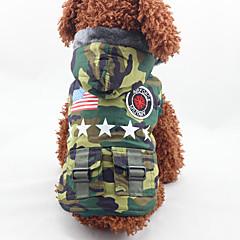 Σκύλος Παλτά Ρούχα για σκύλους Μοντέρνα American / ΗΠΑ Χρώμα Παραλλαγής