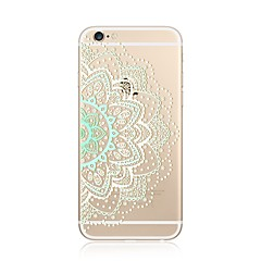 Kotelo iphone 7 plus 7 kattaa läpinäkyvä kuvio takakannen tapauksessa pitsi painatus mandala pehmeä tpu omena iphone 6s plus 6 plus 6s 6