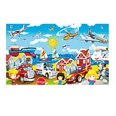 puzzle-uri Puzzle Lemn Blocuri de pereti DIY Jucarii Mașină Elicopter