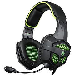 sades sa-807 3,5 mm gaming headset med mikrofon støjreduktion musik hovedtelefoner sort-blå for PS4 bærbar pc mobiltelefoner
