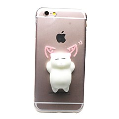 Til iPhone X iPhone 8 iPhone 8 Plus iPhone 7 iPhone 7 Plus Etuier Transparent Mønster GDS squishy Bagcover Etui Kat 3D-tegneseriefigur