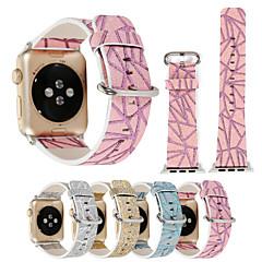 38 / 42mm glitter geometriske udskrifter farverige pu læder ur band armbånd til iwatch apple watch serie 1/2