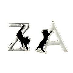 Damskie Kolczyki na sztyft Biżuteria Zwierzęta Niedopasowanie Stop Geometric Shape Kot Biżuteria Na Casual Randka