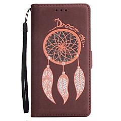til case cover kortholder lommebok med stativ flip magnetisk fuld krops cover glitter shine dream catcher hårdt pu læder til Samsung