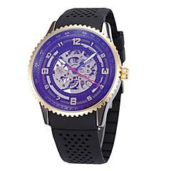 Męskie Damskie Szkieletowy Zegarek na nadgarstek zegarek mechaniczny Japoński Nakręcanie automatyczne Kalendarz Chronograf Wodoszczelny