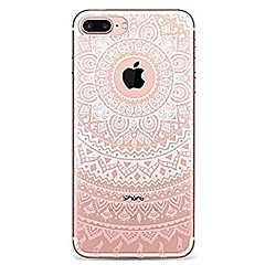 Voor iPhone 7 iPhone 7 Plus Hoesje cover Ultradun Transparant Patroon Achterkantje hoesje Mandala Lace Printing Zacht TPU voor Apple