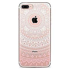 Kompatibilitás iPhone 7 iPhone 7 Plus tokok Ultra-vékeny Átlátszó Minta Hátlap Case Mandala csipke nyomtatás Puha Hőre lágyuló poliuretán
