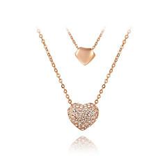 Γυναικεία Κρεμαστά Κολιέ Κολιέ με Αλυσίδα Cubic Zirconia Love Καρδιά Γλυκός Bling Bling Κοσμήματα Για Πάρτι/Βράδυ Καθημερινά Ημερομηνία