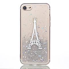 Voor iPhone 7 iPhone 7 Plus Hoesje cover Patroon Achterkantje hoesje Eiffeltoren Zacht Siliconen voor Apple iPhone 7 Plus iPhone 7 iPhone