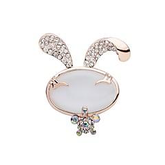 Damskie Dla dziewczynek Broszki Cyrkonia Zwierzęta Godny podziwu Cyrkon Stop Animal Shape Biżuteria Na Casual