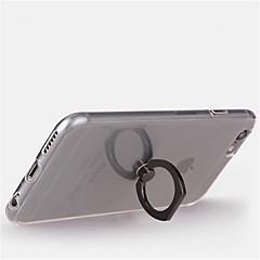 Για iPhone X iPhone 8 iPhone 8 Plus Θήκες Καλύμματα Βάση δαχτυλιδιών Περιστροφή 360° Πίσω Κάλυμμα tok Διάφανη Μαλακή TPU για Apple iPhone
