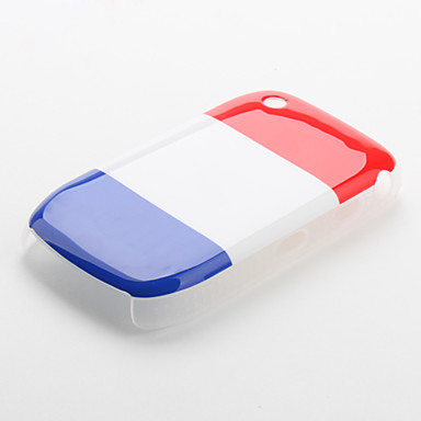 France Flag Pattern Protective Case for Blackberry 8520 and 8530