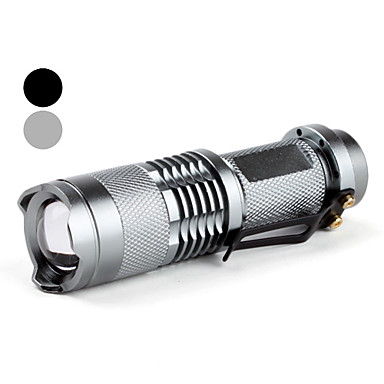 SIPIK SK68 Portable Cree XR-E Q5 Zoom LED Flashlight (400LM, 1x14500/1xAA)