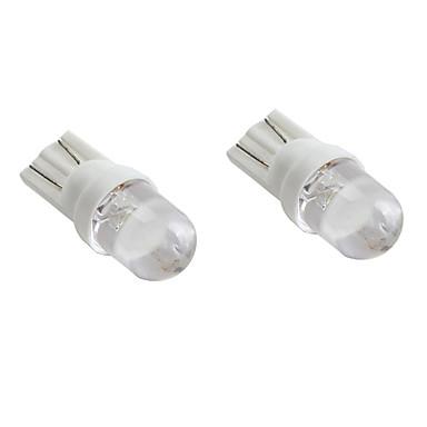 T10 White Light LED Bulb for Car Signal Lamps (2-Pack, DC 12V)