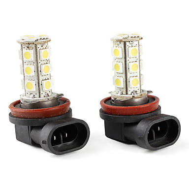 H11 5050 smd 18 led wit mistlampen voor in de auto dc 12v for Led autolampen