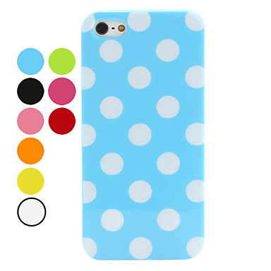 Wave Point Pattern Soft Case for iPhone 5/5S (Assorted Colors)