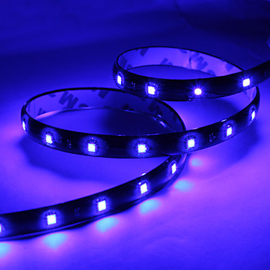 60cm 30x1210 smd led blue light strip lamp for car dc 12v - Bande led autocollante ...