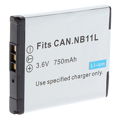 Digital Video Battery Replace Canon NB-11L for Canon PowerShot A2300 IS and More (3.6v, 750 mAh)