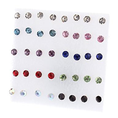 Earring Stud Earrings Jewelry Women Daily Rhinestone Assorted Color