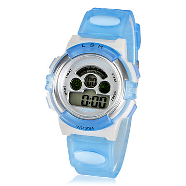 Children's Multi-Function Small Round LCD Digital Rubber Band Wrist Watch (Assorted Colors) Cool Watches Unique Watches
