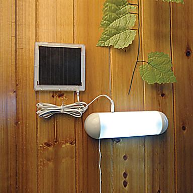 5 LED Indoor Outdoor White Light LED Solar Powered Panel Garden Switch Lamp S