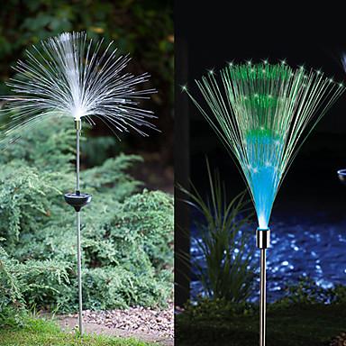 Веерный светильник в сад, на дачу и т. д. В виде оптоволоконного веера на солнечной энергии.