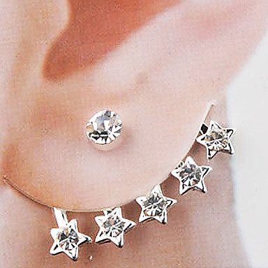 Stud Earrings Alloy Fashion Silver Jewelry Wedding Party Daily