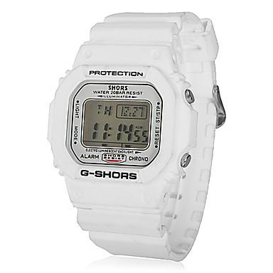 Unisex Multifunktions-LCD-Digital-Gummiband-Quarz-analoge Sportliche Armbanduhr (farbig sortiert)