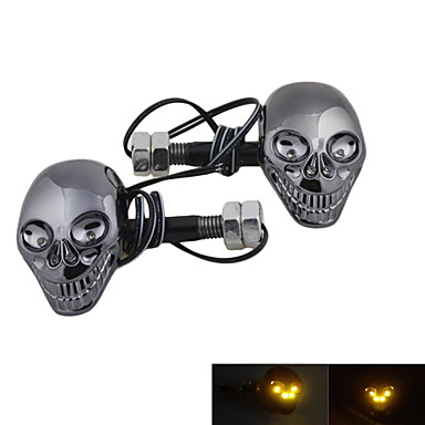 Estilo Crânio DTY lâmpada decorativa 4-LED adesivos para Motos (2 peças) de 8...