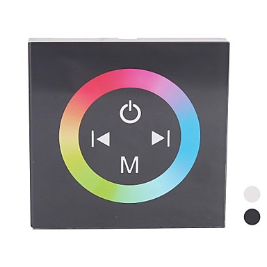 TM08 LED RGB Touch Panel Controller für Single Color LED-Streifen (DC12-24V Input, Max 4A3channel Output)