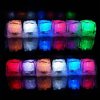 12pcs color changing ice cubes led light party wedding christmas bar restaurant 1466492 2017. Black Bedroom Furniture Sets. Home Design Ideas