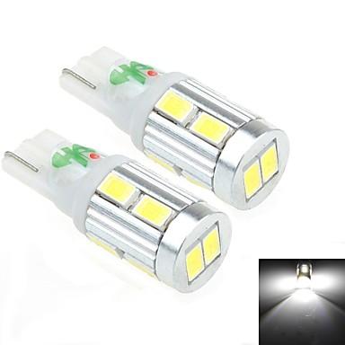 2pcs t10 5w 10x3258 smd 450lm 6000k luce bianca led per for Lampadine led per auto