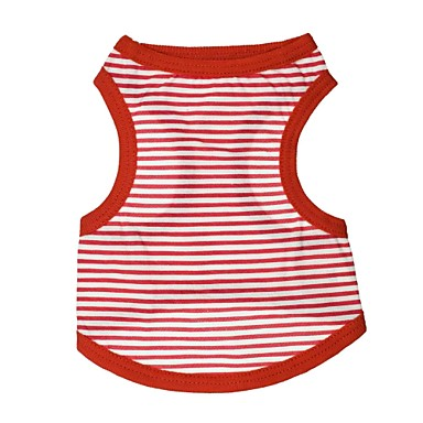 Lovely Stripe Pattern 100% Cotton Vest for Dogs (Assorted Color Sizes)