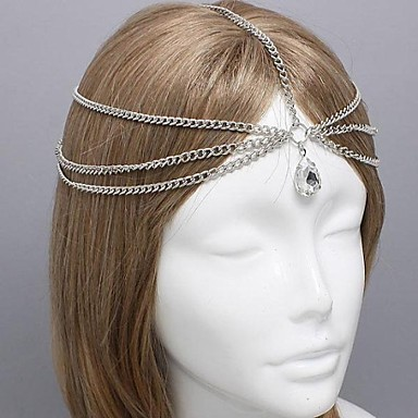 Miss ROSE®Fashion Set Auger Double Chain Silver Headband