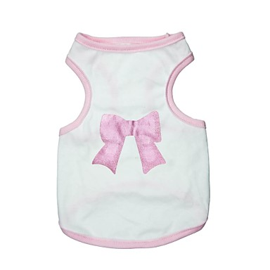 Lovely Bowknot Pattern 100% Cotton Vest for Dogs (Assorted  Sizes)