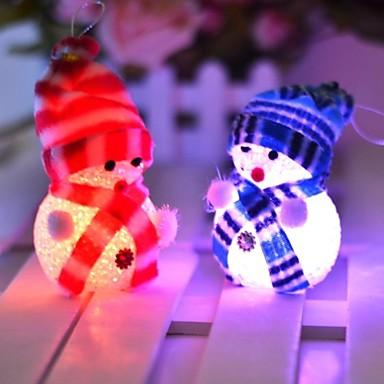 10*6CM Electronic LED Christmas snowman