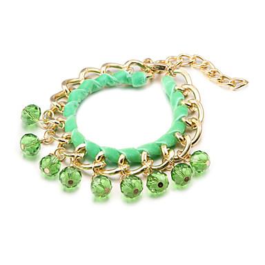 La mode des bracelets de charme color cristal multicolore en alliage de tiss - Photo de charme en couleur ...