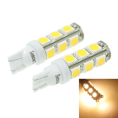 T10 149 168 w5w 7w 13x5054smd 480 560lm 3000 3500k warm for Led autolampen